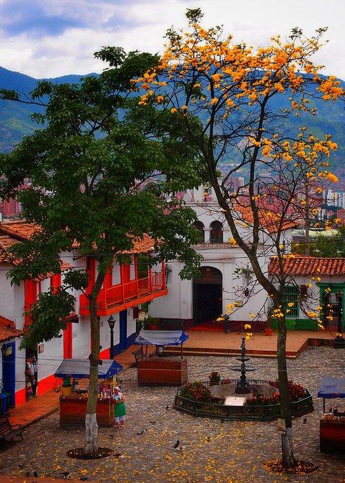 Antioquia Greeting Card featuring the photograph Antioquia by Skip Hunt