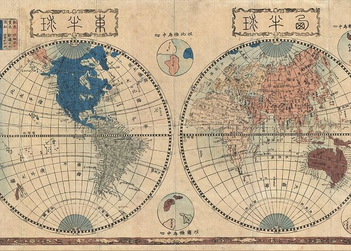 Old World Vintage Cartographic Maps Greeting Cards