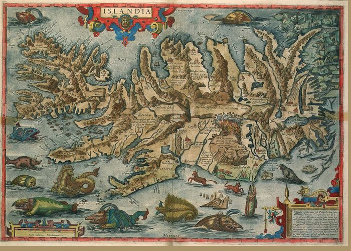 Old Map Of Iceland Antique Maps   Old Cartographic Maps   Antique Map Of Iceland