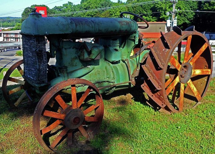 Hurricane Mills Greeting Card featuring the photograph Antique Tractor 3 by Ron Kandt