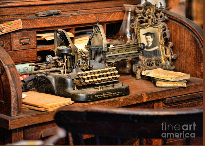 Paul Ward Greeting Card featuring the photograph Antique Typewriter by Paul Ward