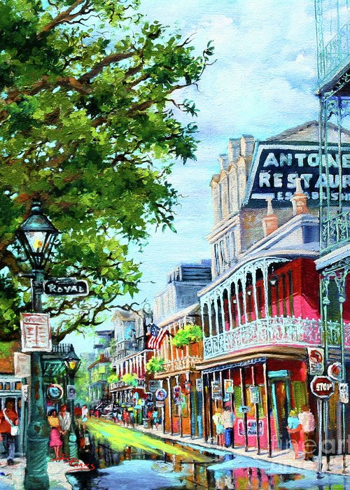 New Orleans Art Greeting Card featuring the painting Antoine's by Dianne Parks