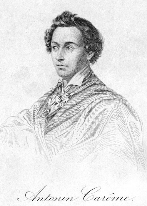 19th Century Greeting Card featuring the photograph Antonin CarÊme (1783-1833) by Granger