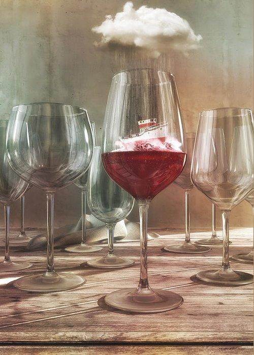 Pinot Noir Digital Art Greeting Cards