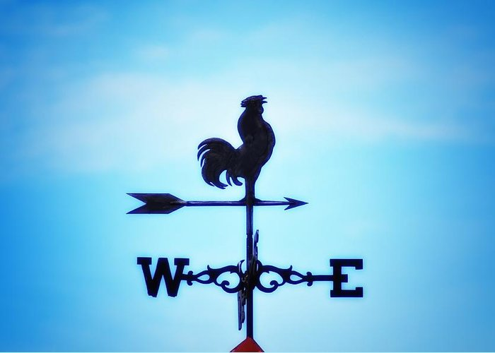 Weather Vane Greeting Card featuring the photograph Any Way The Wind Blows Home by Bill Cannon