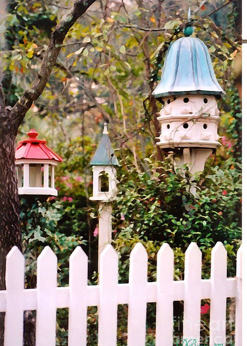 Birdhouses Greeting Card featuring the photograph Apartment Living by Donna Bentley
