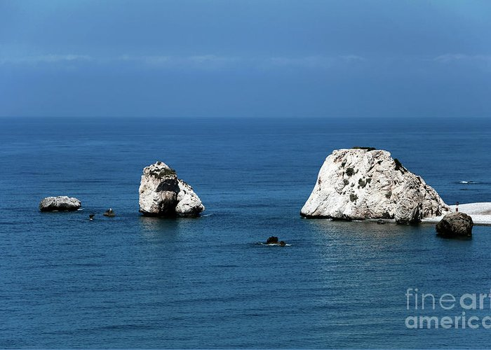 Rocks Greeting Card featuring the photograph Aphrodite's Rocks by John Rizzuto