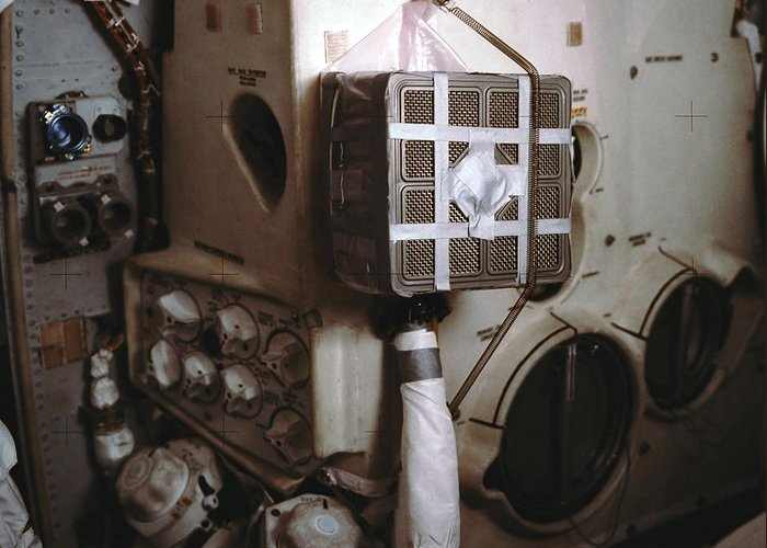Gpn-2002-000056 Greeting Card featuring the photograph Apollo 13s Mailbox by Nasa