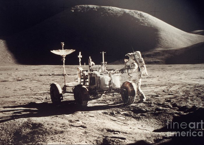 1971 Greeting Card featuring the photograph Apollo 15, 1971 by Granger