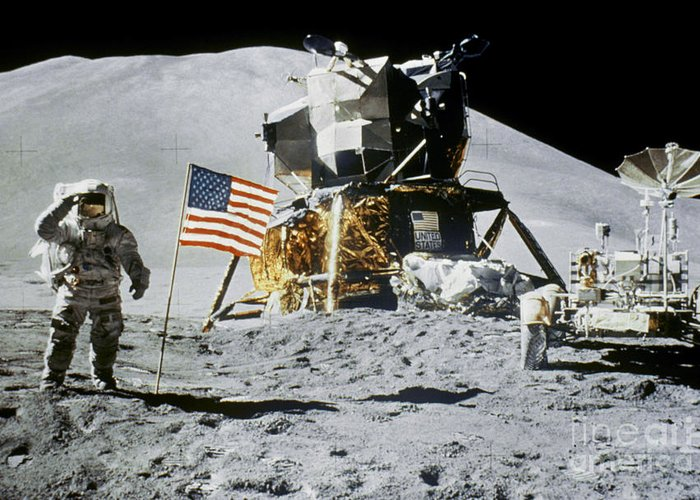 1971 Greeting Card featuring the photograph Apollo 15: Jim Irwin, 1971 by Granger