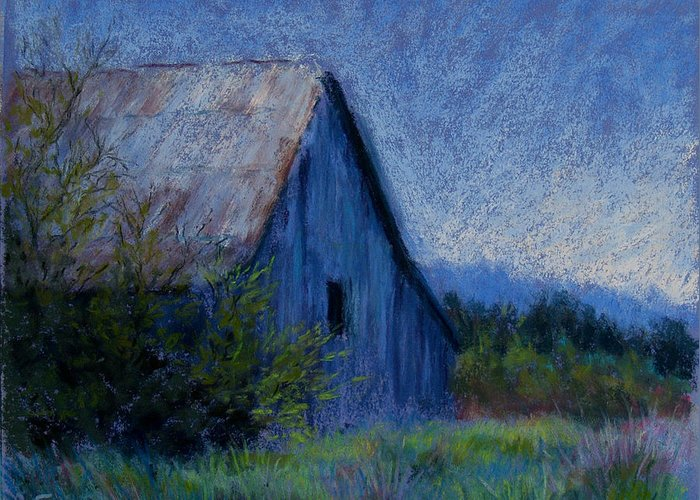 Landscape Greeting Card featuring the pastel Appalachian Morning by Susan Jenkins