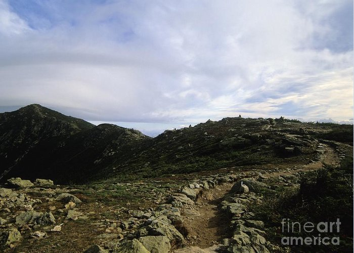 Appalachian Trail Greeting Card featuring the photograph Appalachian Trail - Mount Lincoln - White Mountains New Hampshire Usa by Erin Paul Donovan