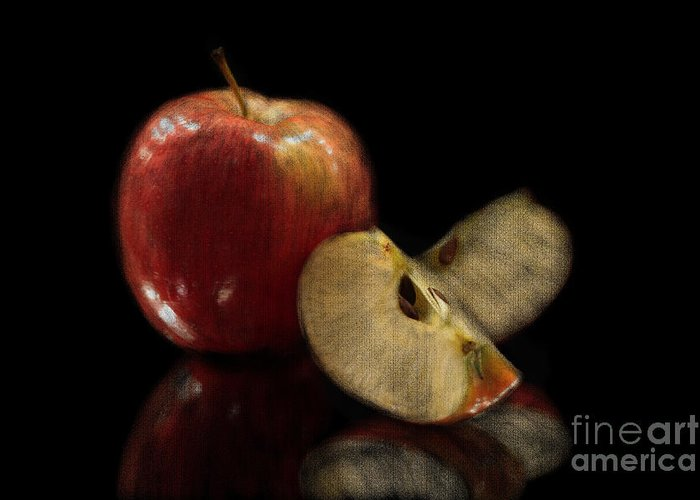 Apple Greeting Card featuring the photograph Apple Still Life by Jeannie Burleson