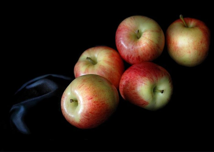 Still Life Greeting Card featuring the photograph Appleanche by Dan Holm