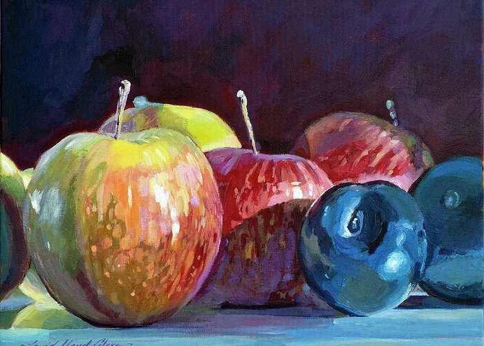 Fruit Stand Greeting Cards