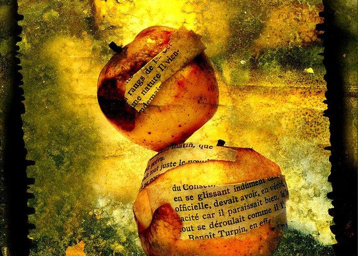 Art Greeting Card featuring the photograph Apples by Bernard Jaubert
