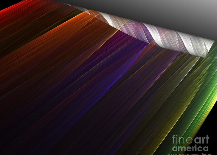 Digital Greeting Card featuring the digital art Applying Color by Sandra Bauser Digital Art
