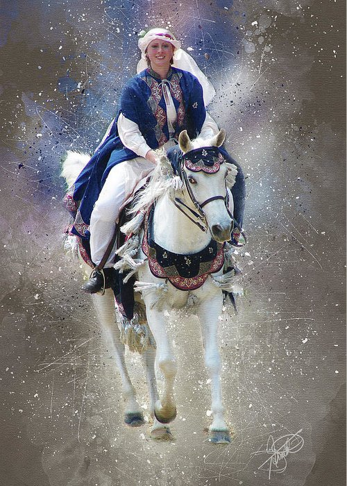 Arabian Greeting Card featuring the digital art Arabian Nights by Tom Schmidt
