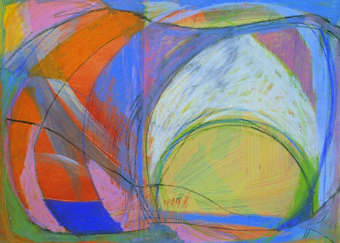Arc Greeting Card featuring the painting Arc Drawing 16 by Ruth Sharton