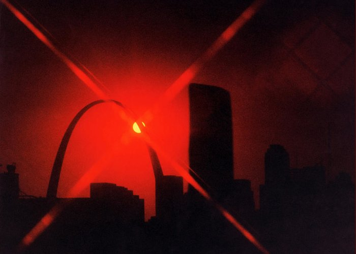 St Louis Greeting Card featuring the photograph Arch Study 1 by Christopher McKenzie