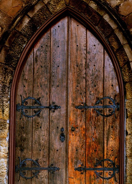 Frost Chapel Greeting Card featuring the photograph Arched Doorway by Jason Blalock