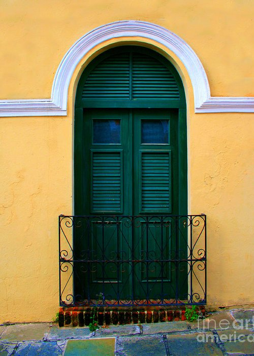 Door Greeting Card featuring the photograph Arched Doorway by Perry Webster
