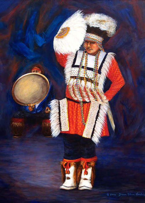 Alaska Greeting Card featuring the painting Arctic Rhythms by Dianne Roberson