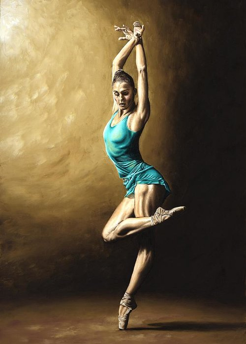 Dance Greeting Card featuring the painting Ardent Dancer by Richard Young