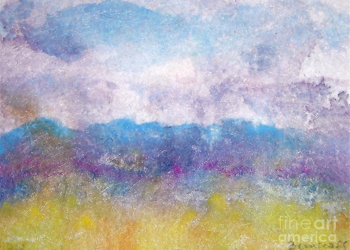 Abstract Greeting Card featuring the painting Arizona Impressions by Jan Bennicoff