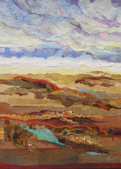 Abstracted Landscape Elements Greeting Card featuring the painting Arizona Reflections Number One by Don Trout