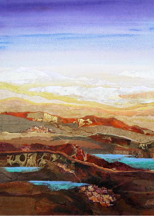 Mixed Media Greeting Card featuring the painting Arizona Reflections Number Two by Don Trout