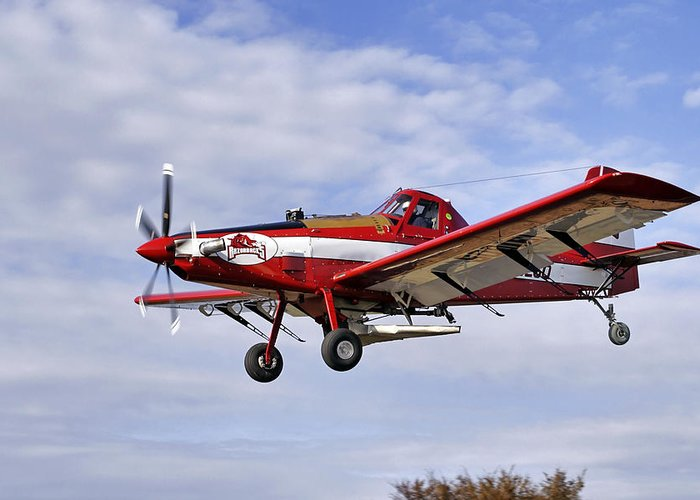 Crop Greeting Card featuring the photograph Arkansas Razorbacks Crop Duster by Jason Politte