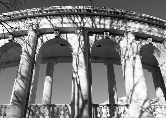 National Greeting Card featuring the photograph Arlington Amphitheater From The Outside -- 2 by Cora Wandel