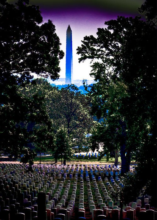 America Greeting Card featuring the photograph Arlington by David Hahn