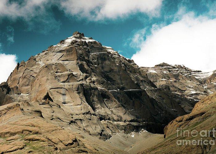 Tibet Greeting Card featuring the photograph Around Holy Kailas Himalayas Tibet Yantra.lv by Raimond Klavins