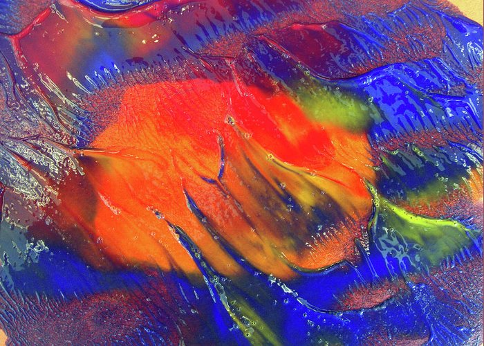 Colors Greeting Card featuring the painting Art 0a by Leigh Odom