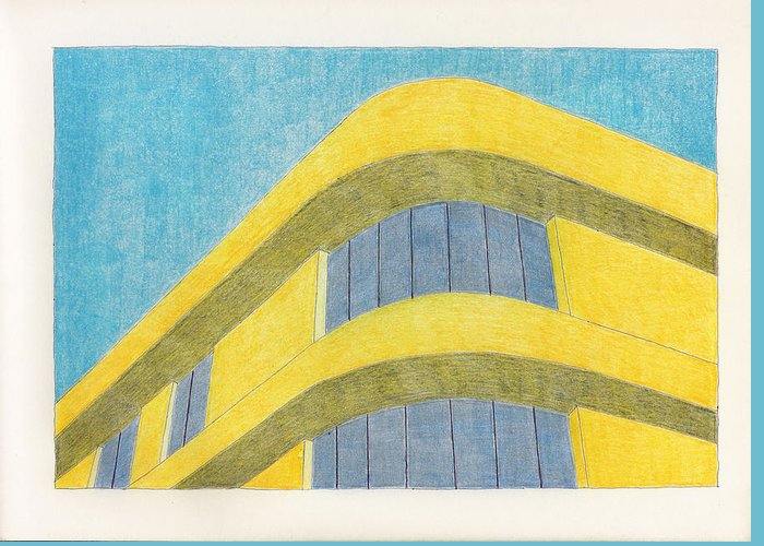 Architecture Greeting Card featuring the drawing Art Deco by Eric Forster