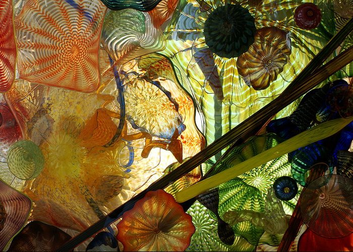 Art Glass Greeting Card featuring the photograph Art Glass by Sonja Anderson