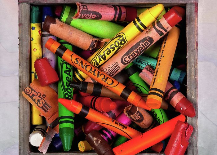 Crayons Greeting Cards