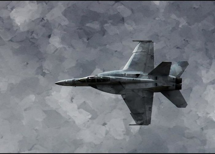 F18 Greeting Card featuring the photograph Art In Flight F-18 Fighter by Aaron Lee Berg