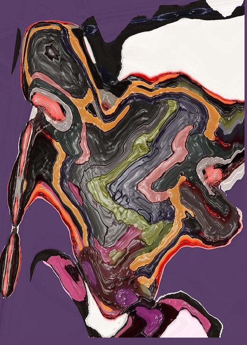 Abstract Greeting Card featuring the digital art Art No. Five by LeeAnn Alexander