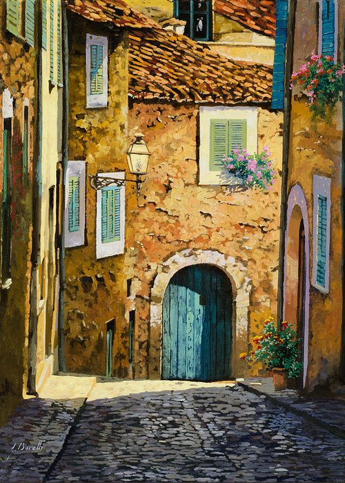Landscape Greeting Card featuring the painting Arta-mallorca by Guido Borelli