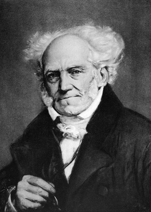 19th Century Greeting Card featuring the painting Arthur Schopenhauer by Granger