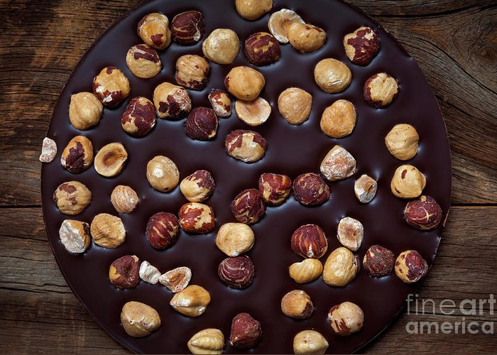 Chocolate Greeting Card featuring the photograph Artisanal Chocolate by Elena Elisseeva