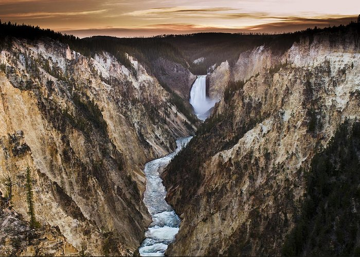 Canyon Greeting Card featuring the photograph Artist Point Canyon Falls by Chad Davis