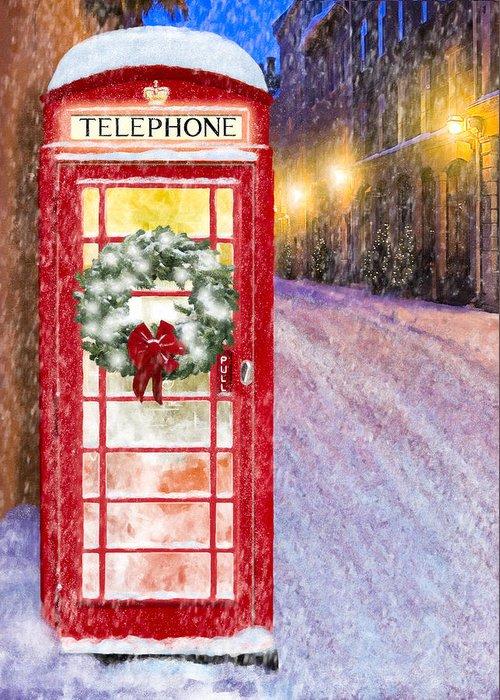 Snowy Night Mixed Media Greeting Cards