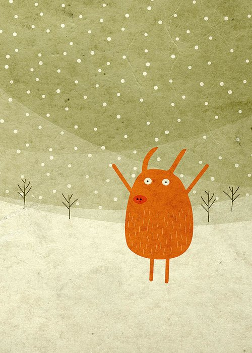 Winter Digital Art Greeting Cards