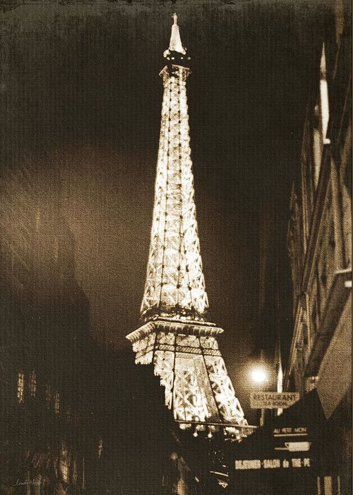Paris Greeting Card featuring the photograph Postcard From Paris- Art By Linda Woods by Linda Woods