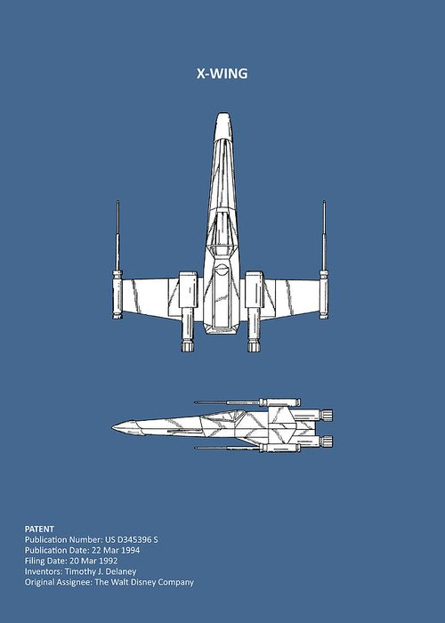 X-wing Greeting Card featuring the photograph Star Wars X-wing Fighter by Mark Rogan