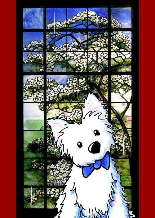 Westie Mixed Media Greeting Cards